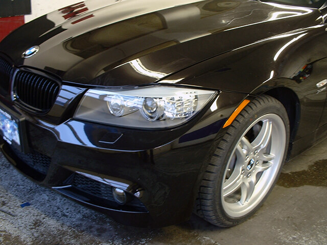 Paint protection film: hood, fender, front bumper, lights